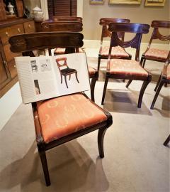 Set of 8 Handmade Mahogany Classical Mahogany Dining Chairs Circa 1825 Boston - 1793664