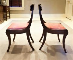 Set of 8 Handmade Mahogany Classical Mahogany Dining Chairs Circa 1825 Boston - 1793665