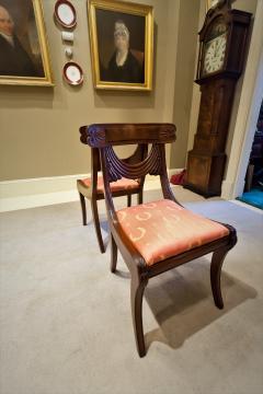 Set of 8 Handmade Mahogany Classical Mahogany Dining Chairs Circa 1825 Boston - 1793666