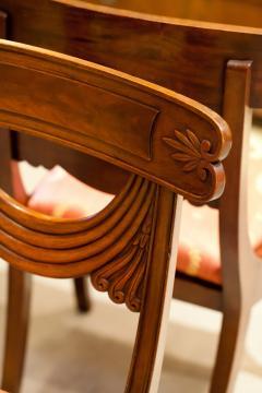 Set of 8 Handmade Mahogany Classical Mahogany Dining Chairs Circa 1825 Boston - 1793667