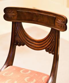 Set of 8 Handmade Mahogany Classical Mahogany Dining Chairs Circa 1825 Boston - 1793668