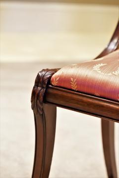 Set of 8 Handmade Mahogany Classical Mahogany Dining Chairs Circa 1825 Boston - 1793669
