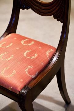 Set of 8 Handmade Mahogany Classical Mahogany Dining Chairs Circa 1825 Boston - 1793674