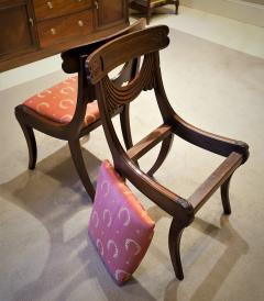 Set of 8 Handmade Mahogany Classical Mahogany Dining Chairs Circa 1825 Boston - 1793675