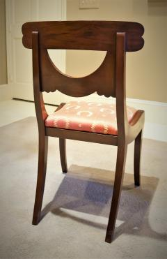 Set of 8 Handmade Mahogany Classical Mahogany Dining Chairs Circa 1825 Boston - 1793676