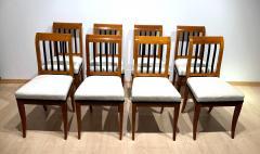 Set of 8 Neoclassical Biedermeier Chairs Walnut South Germany circa 1825 - 2124297
