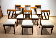 Set of 8 Neoclassical Biedermeier Chairs Walnut South Germany circa 1825 - 2124298