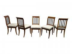Set of 8 Neoclassical Biedermeier Chairs Walnut South Germany circa 1825 - 2124299