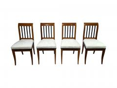 Set of 8 Neoclassical Biedermeier Chairs Walnut South Germany circa 1825 - 2124300