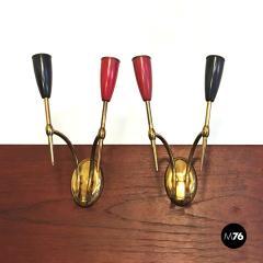Set of Brass applique 1950s - 2034656