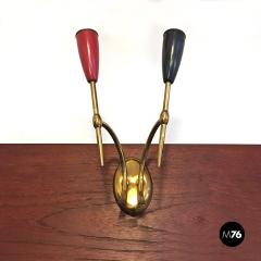 Set of Brass applique 1950s - 2034657