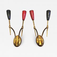 Set of Brass applique 1950s - 2036352
