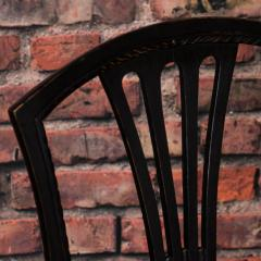Set of Eight Antique Black Painted Swedish Dining Chairs - 950205