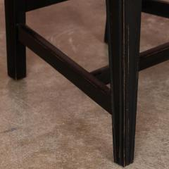 Set of Eight Antique Black Painted Swedish Dining Chairs - 950207