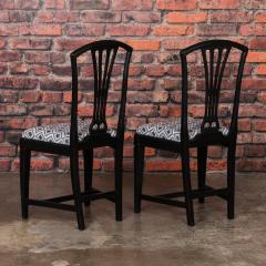 Set of Eight Antique Black Painted Swedish Dining Chairs - 950209