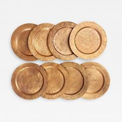 Set of Eight Arts Crafts Copper Under Plates - 1383173