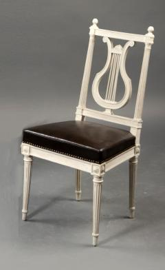 set of eight chairs, louis xvi, france, late 18th century