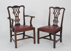 Set of Eight Chippendale Style Mahogany Dining Chairs 6 2 early 19th c  - 1051027