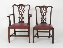Set of Eight Chippendale Style Mahogany Dining Chairs 6 2 early 19th c  - 1051028