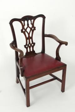 Set of Eight Chippendale Style Mahogany Dining Chairs 6 2 early 19th c  - 1051029