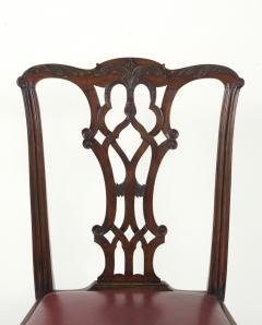 Set of Eight Chippendale Style Mahogany Dining Chairs 6 2 early 19th c  - 1051030