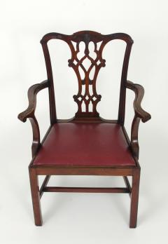 Set of Eight Chippendale Style Mahogany Dining Chairs 6 2 early 19th c  - 1051031