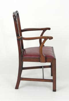 Set of Eight Chippendale Style Mahogany Dining Chairs 6 2 early 19th c  - 1051032