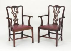 Set of Eight Chippendale Style Mahogany Dining Chairs 6 2 early 19th c  - 1051033