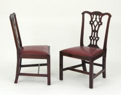 Set of Eight Chippendale Style Mahogany Dining Chairs 6 2 early 19th c  - 1051034