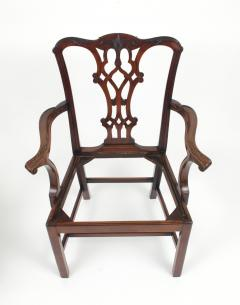 Set of Eight Chippendale Style Mahogany Dining Chairs 6 2 early 19th c  - 1051035