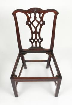 Set of Eight Chippendale Style Mahogany Dining Chairs 6 2 early 19th c  - 1051036