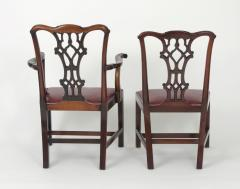 Set of Eight Chippendale Style Mahogany Dining Chairs 6 2 early 19th c  - 1051037