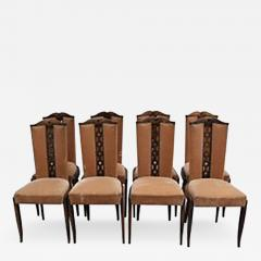 Set Of Eight Fine French Art Deco Dining Chairs   468038