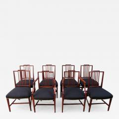 Set Of Eight Late 18th Century English Hepplewhite Mahogany Dining Chairs    308217