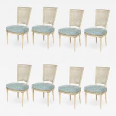 Set of Eight Louis XVI Style Caned Back Dining Chairs - 1100939