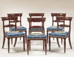 Set of Eight Regency Carved Mahogany Dining Chairs - 735875
