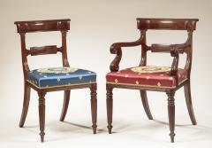 Set of Eight Regency Carved Mahogany Dining Chairs - 735876