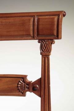 Set of Eight Regency Carved Mahogany Dining Chairs - 735880