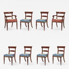 Set of Eight Regency Carved Mahogany Dining Chairs - 738779