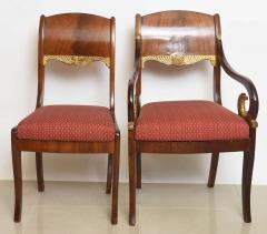 Set of Eight Russian Neoclassic Mahogany and Parcel Gilt Dining Chairs - 40483