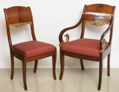 Set of Eight Russian Neoclassic Mahogany and Parcel Gilt Dining Chairs - 40484