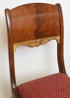 Set of Eight Russian Neoclassic Mahogany and Parcel Gilt Dining Chairs - 40485
