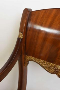 Set of Eight Russian Neoclassic Mahogany and Parcel Gilt Dining Chairs - 40486