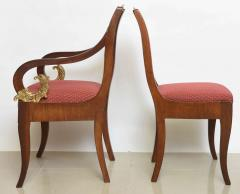 Set of Eight Russian Neoclassic Mahogany and Parcel Gilt Dining Chairs - 40487