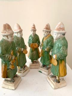 Set of Five Stoneware Tomb Figurines of Musician Ming Dynasty - 1510559