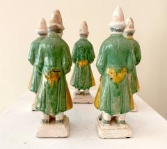 Set of Five Stoneware Tomb Figurines of Musician Ming Dynasty - 1510560