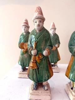 Set of Five Stoneware Tomb Figurines of Musician Ming Dynasty - 1510563