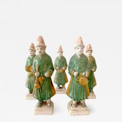 Set of Five Stoneware Tomb Figurines of Musician Ming Dynasty - 1512649