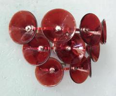 Set of Five Vintage Italian Sconces Murano Glass Designed by Visoti - 2091250