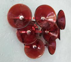 Set of Five Vintage Italian Sconces Murano Glass Designed by Visoti - 2091251